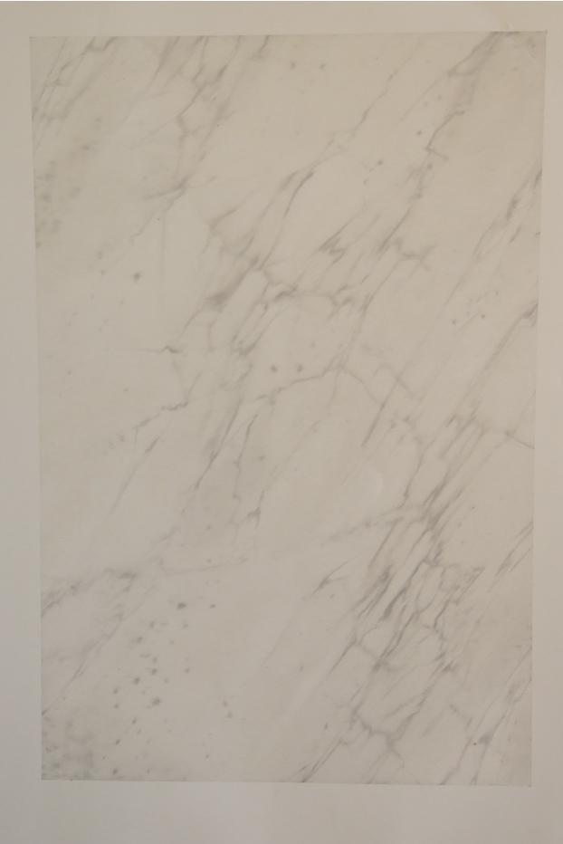 Blanc veiné, huile/papier