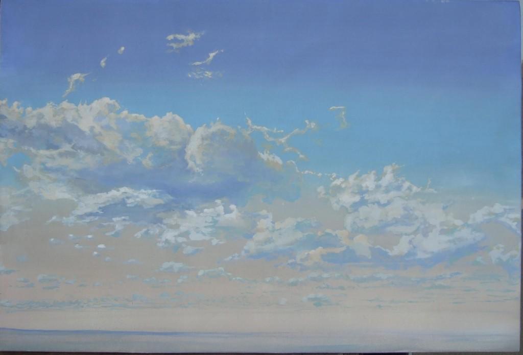 Ciel de Pampa, réalisé à partir d'une photo.