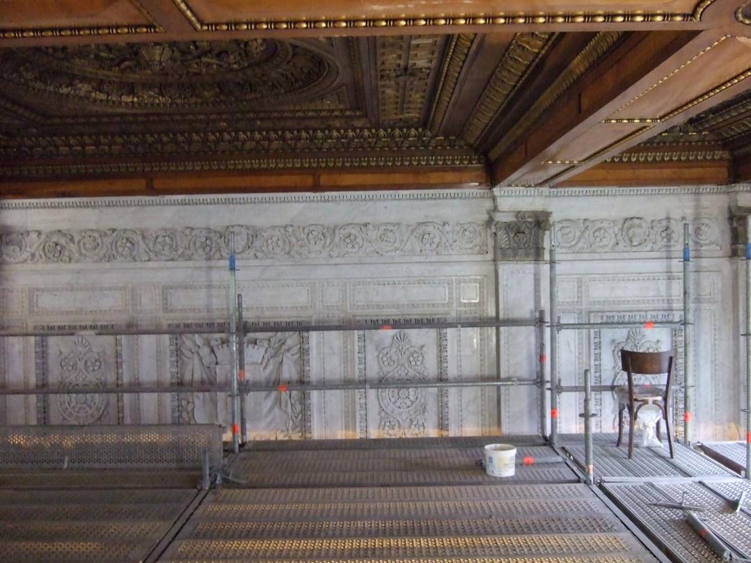 chantier-stage pour Eschlimann sur le palais de justice Baltard à Lyon